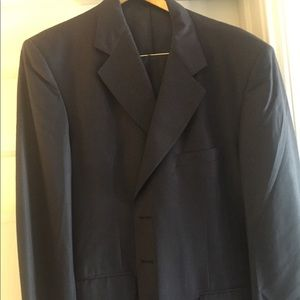 Men's Tailored Suit styled in Italy Navy blue